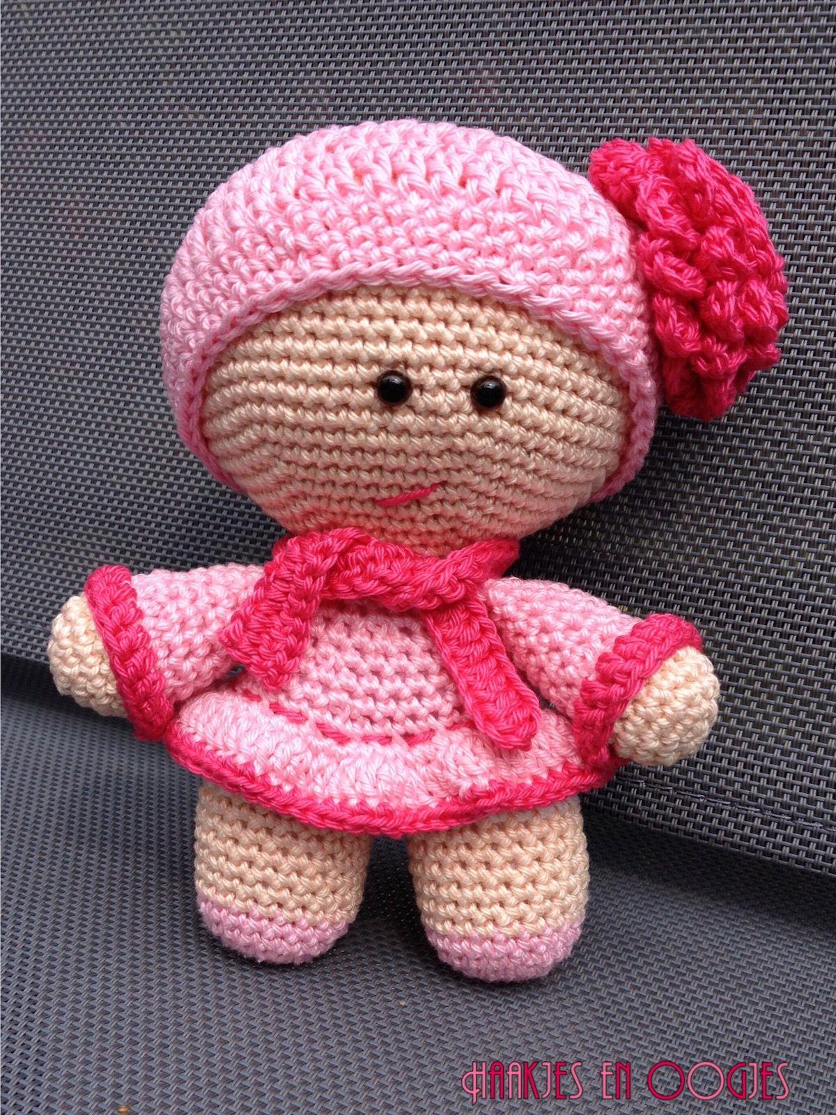 big head doll meisje Amy haken