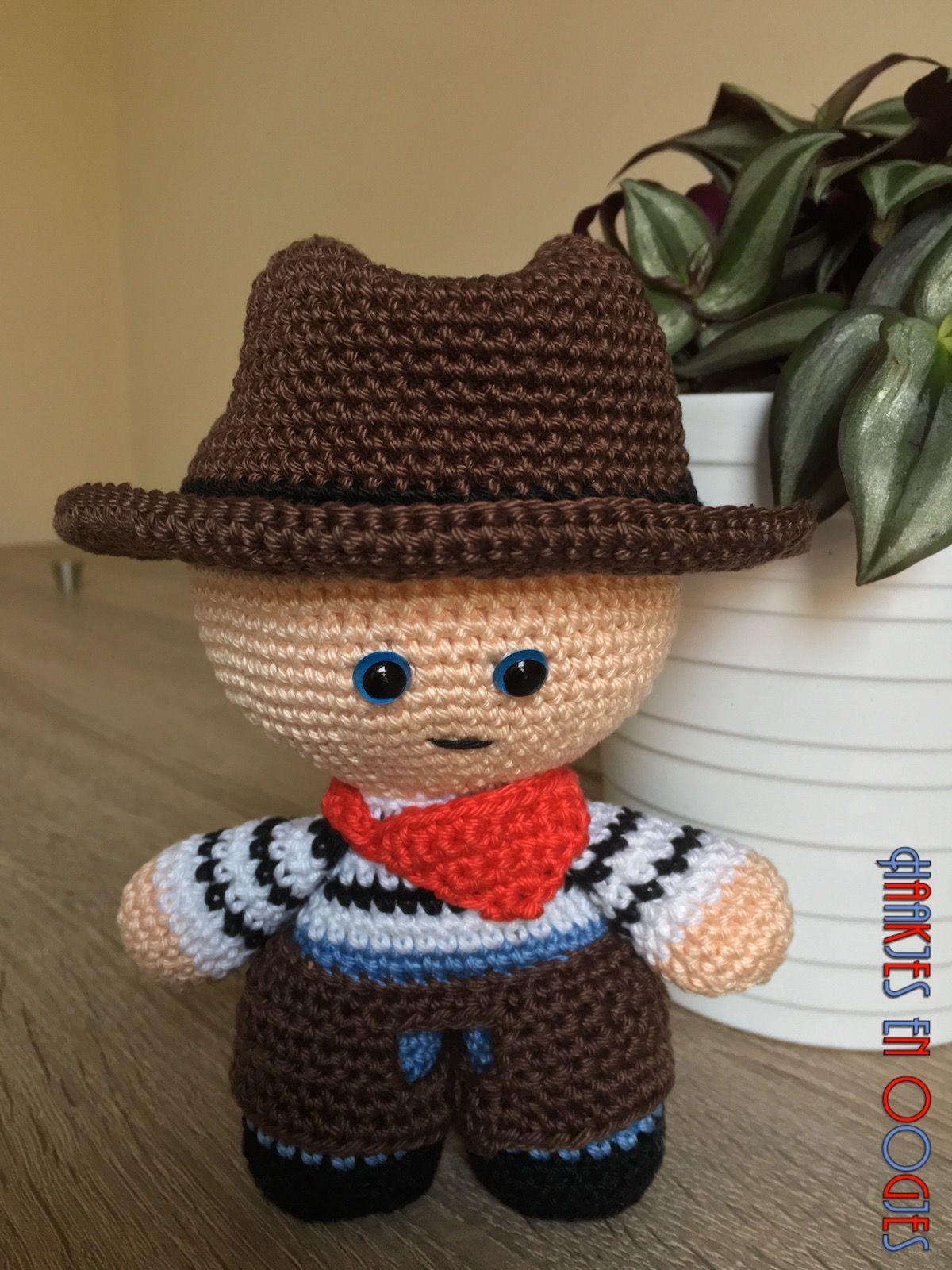 big head doll cowboy Tex haken